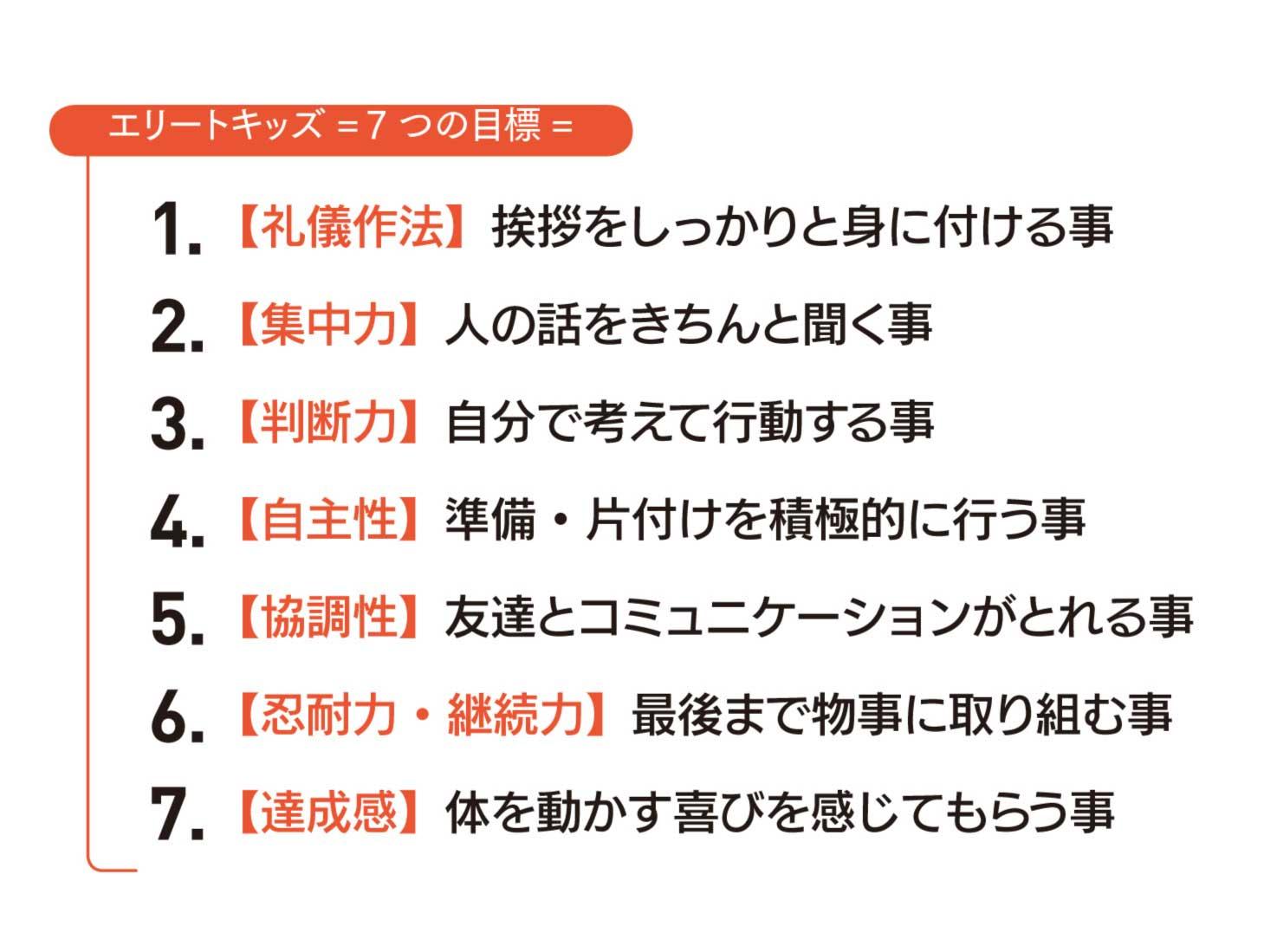 7つの目標